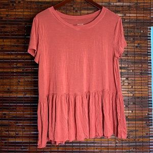 Peach Colored Babydoll Top